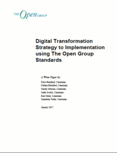 Digital Transformation - Strategy to Implementation using The Open Group Standards Cover